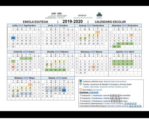 calendario gipuzkoa
