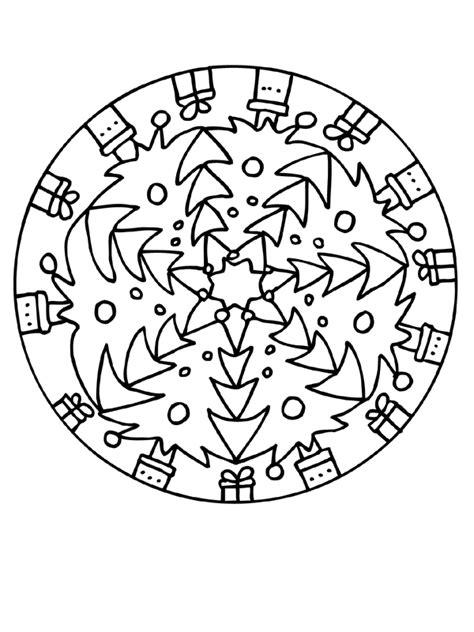 Kleurplaat Mandala Kleuters by Kleurplaten Kerstmis Mandala