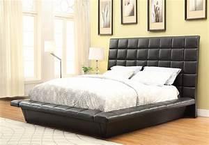 Louisa, Black, King, Upholstered, Platform, Bed, From, Coaster, 300510ke