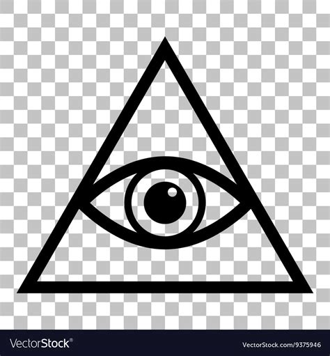 Illuminati Pyramid Eye All Seeing Eye Pyramid Symbol Freemason And Vector Image