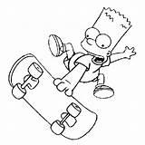 Simpson Simpsons Bart Coloriage Colorear Skateboard Dibujos Ausmalbilder Dibujo Coloring Patineta Malvorlagen Skate Disegno Colorare Os Evoluzione Compie Suo Sul sketch template