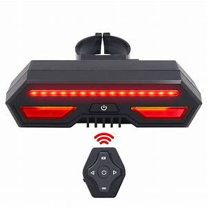 Bike Tail Light With Turn Signals Wireless Remote Control