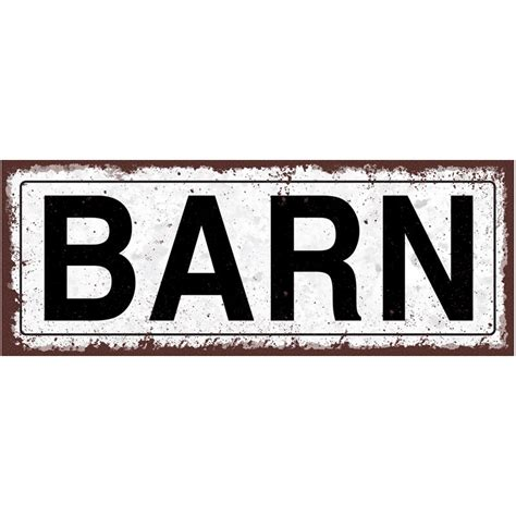 barn metal sign