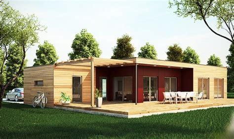 maison plein pied bois constructeur de maisons bois massifs et maisons ossatures bois