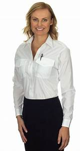 Women's White Long Sleeve Cotton/Poly Dress Shirt [MM ...