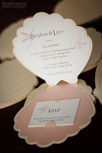 pics for gt seashell invitation template With embossed seashell wedding invitations