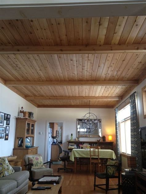 jazz   basement ceiling     wood plank ceiling wooden ceilings rustic