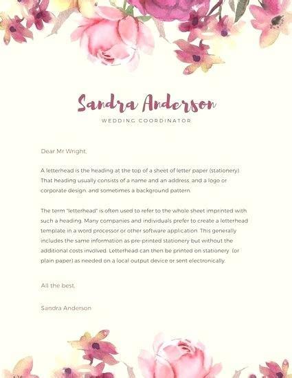 ideas   personal letterhead design printable