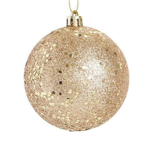 wilko christmas midnight magic glitter bauble gold pk wilko