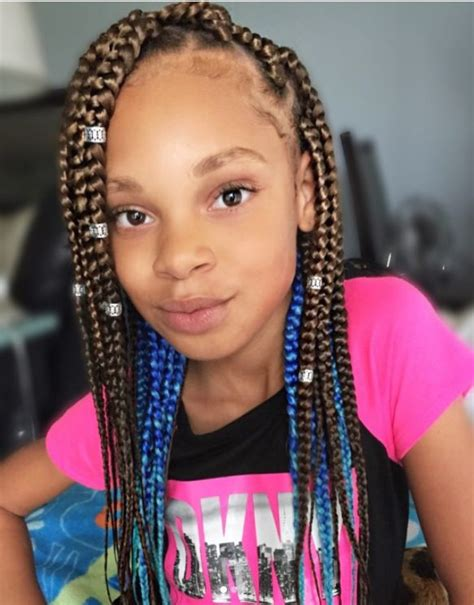 easy  box braids hairstyles  kids  natural