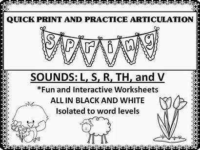 Articulation Worksheets Spring Speech Therapy Th Practice