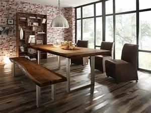 Solde Table A Manger : salle manger moderne et sombre 50 id es l gantes ~ Teatrodelosmanantiales.com Idées de Décoration