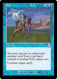 Additionally, there are perfect or pro fit sleeves, which fit cards tightly and can be inserted inside other sleeves. Foil (Prophecy) - Gatherer - Magic: The Gathering
