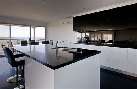 kitchen island with black granite top benchtops chris youngs joinery narooma
