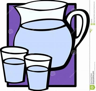 Water Pitcher Glasses Jar Clipart Illustration Glass