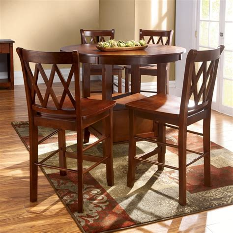 round high top table high top kitchen table set furniture pinterest