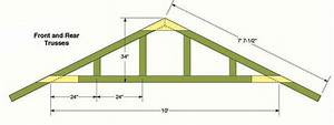 10x12 storage shed plans blueprints for constructing a With 16 ft roof trusses