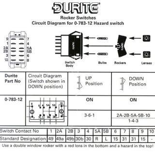 0 783 12 durite hazard function sp rocker switch