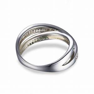 Two tone infiniby band wedding ring anti tarnish rhodium for Anti wedding ring