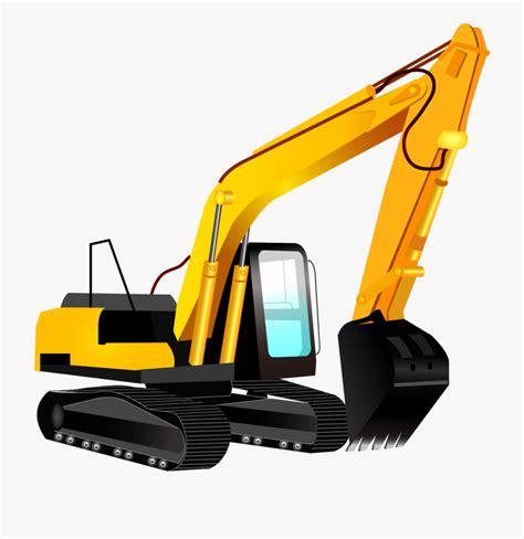 excavator clip art excavator vector png transparent cartoon  cliparts silhouettes