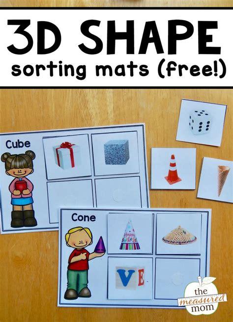 shape sorting mats shapes kindergarten  shape