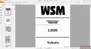 Kubota Tractor L3200 Workshop Manual