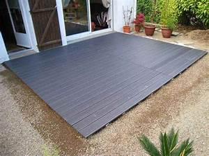 Terrasse Sur Plot : poser une terrasse composite sur lambourdes et plots ~ Melissatoandfro.com Idées de Décoration