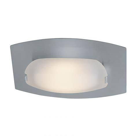 access matte chrome frosted nido 1 light wall sconce