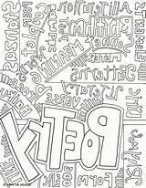 Poetry Pages Coloring Poet Printable Template Getcolorings sketch template