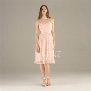 2017 Peach Bridesmaid Dress, Lace Wedding Dress Backless ...