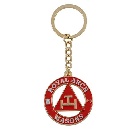 franks red keychain royal arch masonic key chain york rite red house the