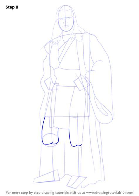 step  step   draw qui gon jinn  star wars drawingtutorialscom