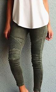 Army Green Jeans Womens - Oasis amor Fashion