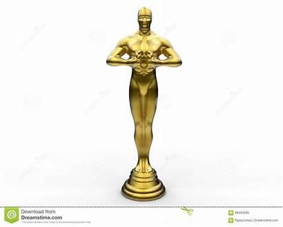Statue Golden Award Clipart Background Illustration Dreamstime