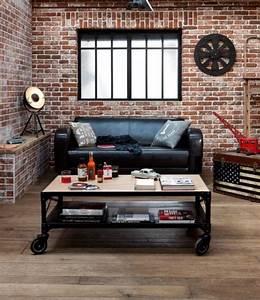 la brique rouge element deco principal du loft contemporain With lovely idee couleur escalier bois 9 les briques de parement et les briques apparentes