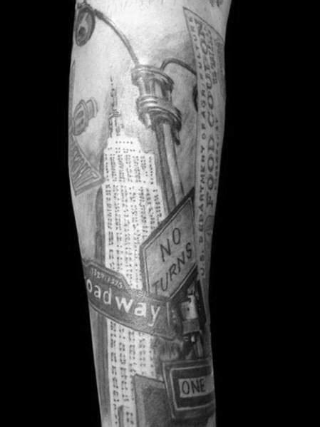 50 Empire State Building Tattoo Ideas For Men - Skyscraper