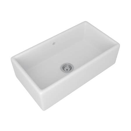 fireclay undermount kitchen sink rohl rc3318wh white shaws 33 quot single basin undermount 7205