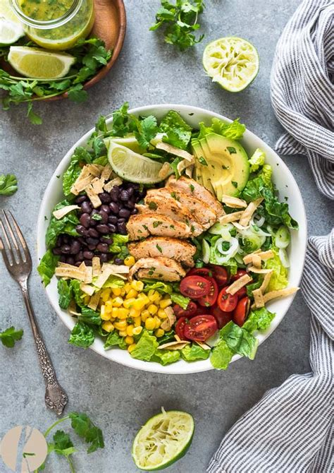 santa fe chicken salad  tangy lime dressing