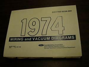 Oem Ford 1974 Wiring Diagram Book Mustang Ii Cougar Torino