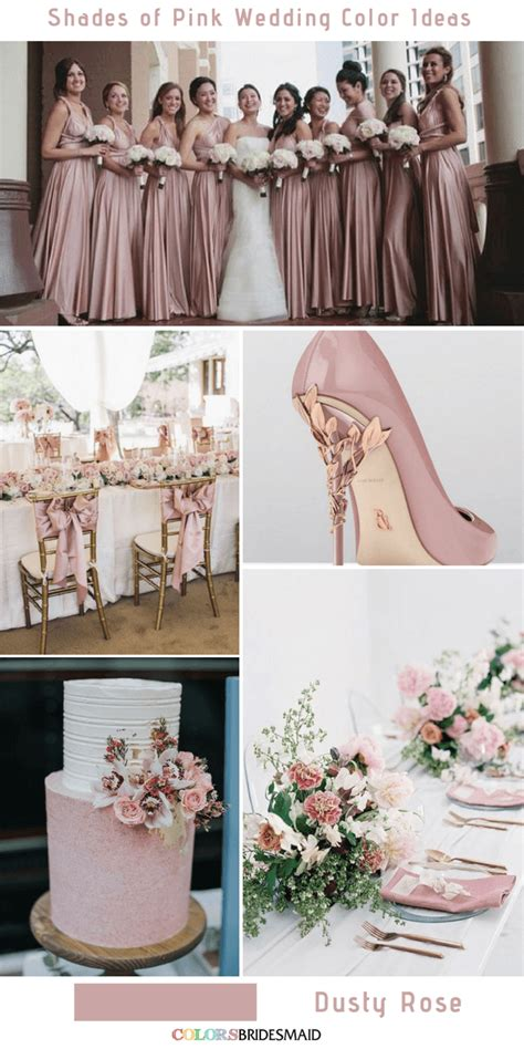 prettiest shades of pink wedding color ideas dusty rose in