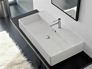 Vasque À Poser Rectangulaire : vasque poser rectangulaire en c ramique teorema 100r a ~ Melissatoandfro.com Idées de Décoration