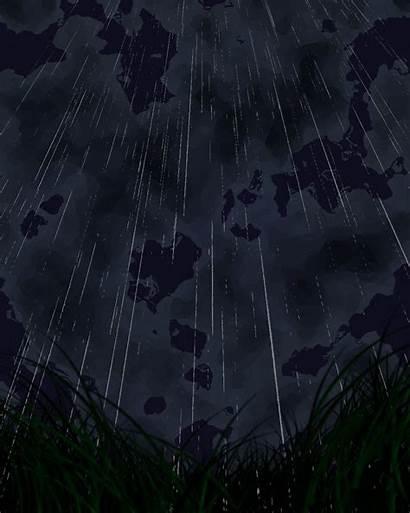 Rain Animated Gifer Anime Gifs Dark Giphy
