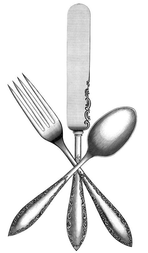 Vintage Silverware Image - The Graphics Fairy