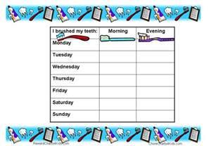 Teeth Brushing Chart Printable