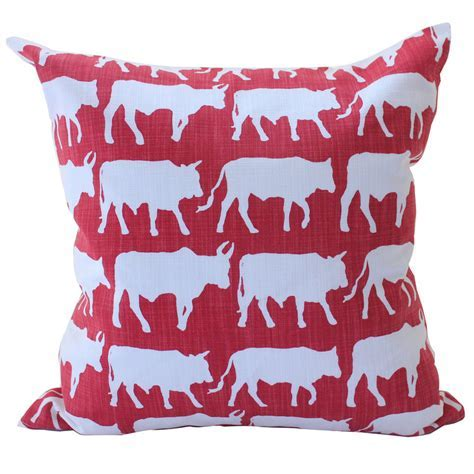 Transkei Cows cushion cover (poppy red)   Hello Pretty