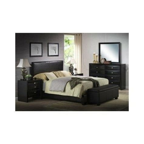 modern leather bedroom sets modern queen size leather faux bed frame bedroom headboard 16395   s l1000