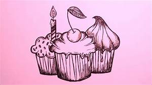 #9 Simple Drawing | SWEET DREAMS | HOW TO DRAW CUPCAKES ...