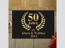 Fußmatte zur Goldenen Hochzeit Fußmatte mit Druck 50 Jahre