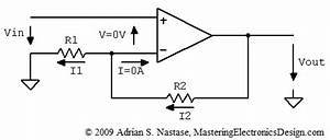 how to derive the non inverting amplifier transfer With inverting amplifier