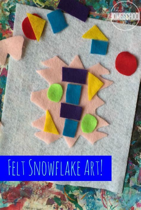 felt snowflake art